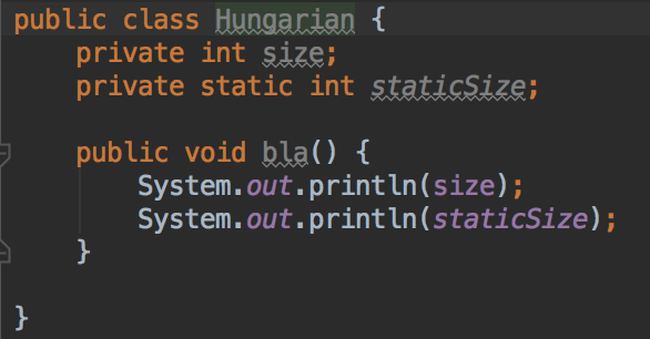 A case against the Hungarian Notation on Android
